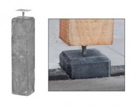 Betonpoer 15x15x600cm Antraciet