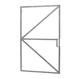 Poortframe Verstelbaar 100cm breed met slotkast