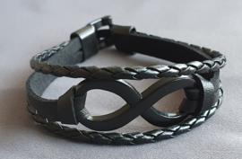 Lederlook armband - Infinity