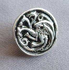Mini-Broche Driekoppige draak