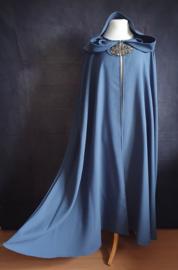 Lange grijsblauwe cape