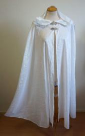 Lange witte cape