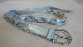 Zilverkleurig gevlochten riempje