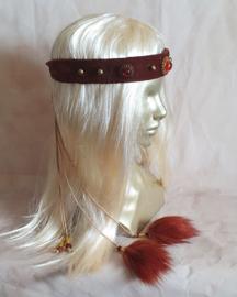 Roodbruine hoofdband - HF6