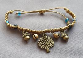 Armband geknoopt - goudbruin