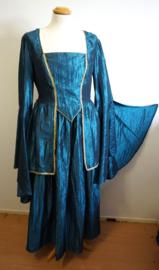 Aqua blauwe jurk - 4 delig