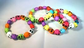 Multicolor Skull armband