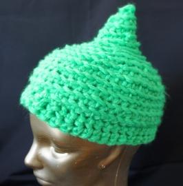 Groene gehaakte muts