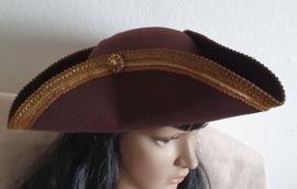 Bruine piratenhoed