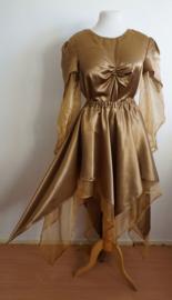 Set blouse + Rok - Goudkleurig satijn
