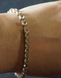 Vintage Armband - glimsteentjes