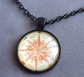 Ketting - Kompas - zwart