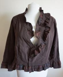 Bruine blouse - Mt. XL/XXL