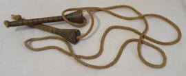 Vintage houten springtouw
