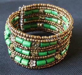 Armband kraaltjes - Groen