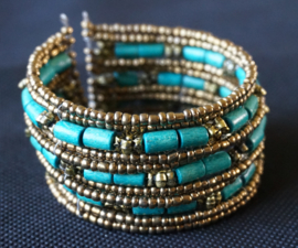 Armband kraaltjes - Blauw