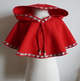 KIDS - Rode kaproen / schoudercape