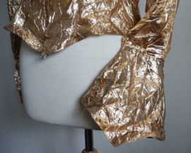 Blouse  2 - Goudkleurige kreukelstof