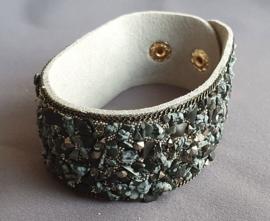 Armband met kiezeltjes - Grijs