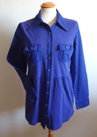 Blauwpaarse blouse - Mt. L