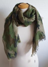 Sjaal met camouflageprint