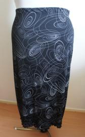Zwarte rok met print - Mt. L/XL