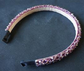 Diadeem met glimmers - Roze/paars
