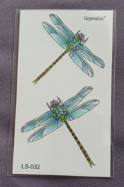 Plaktattoo - Libellen