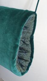 Handmof - Blauwgroen Fluweel