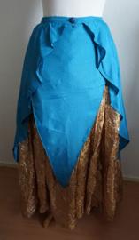 Rok  1 - Blauwe reliefstof