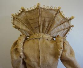 Jute jurk met kraag  -  7 delig
