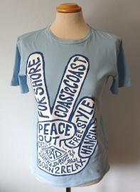 Lichtblauw t-shirt  - Mt. S