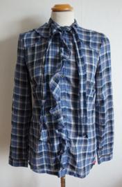 Blauw geruite blouse - Mt. M