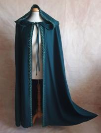 Donkergroene cape