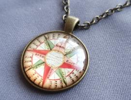 Ketting - Kompas - brons