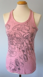 Roze top met sneakerprint - Mt. S