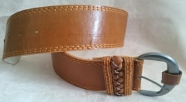Brede leatherlook riem
