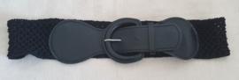 Zwarte elastische riem