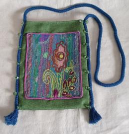 Handgemaakt schoudertasje - W1
