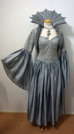 Grijze jurk met jasje - 5 delig