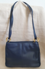 Donkerblauwe schoudertas
