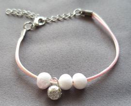 Roze Armband kraaltjes
