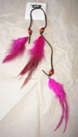 Veertjes met Haarklem - Roze