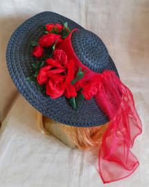 Bloemenhoed Zwart - Rood