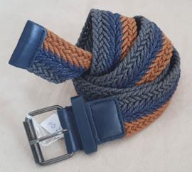 Blauw / bruin gevlochten riem