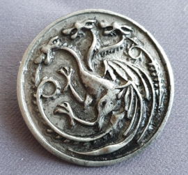 Broche Driekoppige draak
