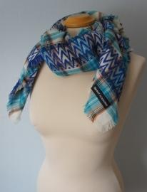 Sjaal met blauwe ruit