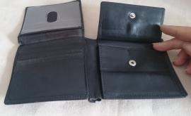 Zwarte 'billfold' portemonnee