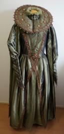 Groene  jurk -  4 delig