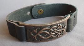 Lederlook armband - koper